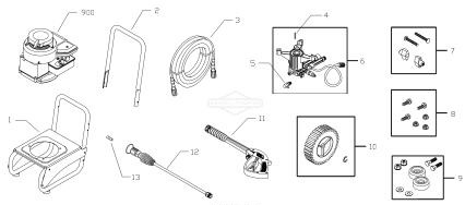 Briggs & Stratton pressure washer model 020290-1 replacement parts, pump breakdown, repair kits, owners manual and upgrade pump.