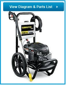 BRUTE Pressure Washer 020338-00 replacement parts