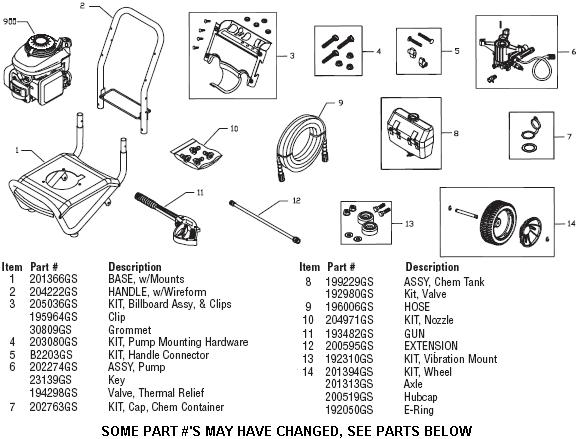 troy-bilt 020344 pressure washer replacement parts