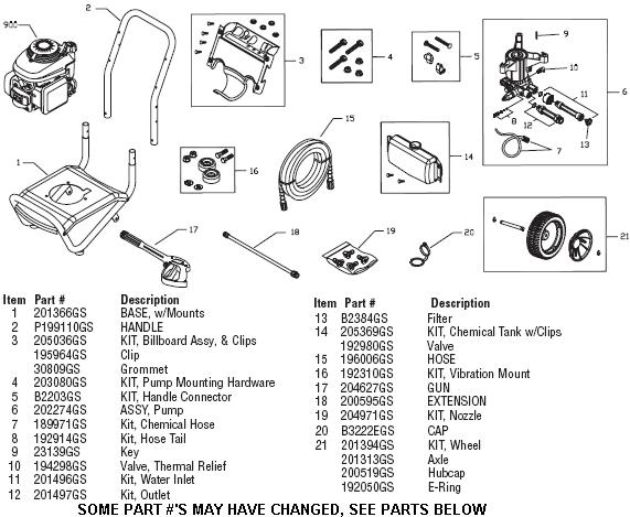 honda gcv160 pressure washer pump parts
