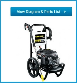 BRUTE Pressure Washer 020359-00 Replacement parts
