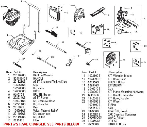 brute 020359 pressure washer replacement parts