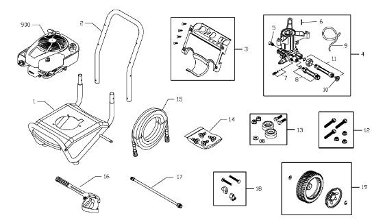 TROY-BILT 020417 Pressure Washer Replacement Parts