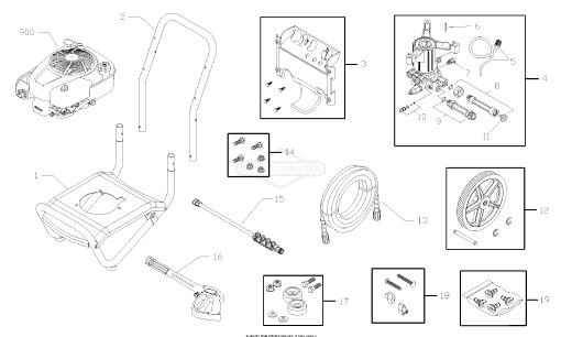 honda powerboss pressure washer parts diagram