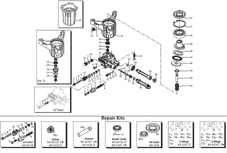 020453 Powerboss Pump Breakdown and Parts List