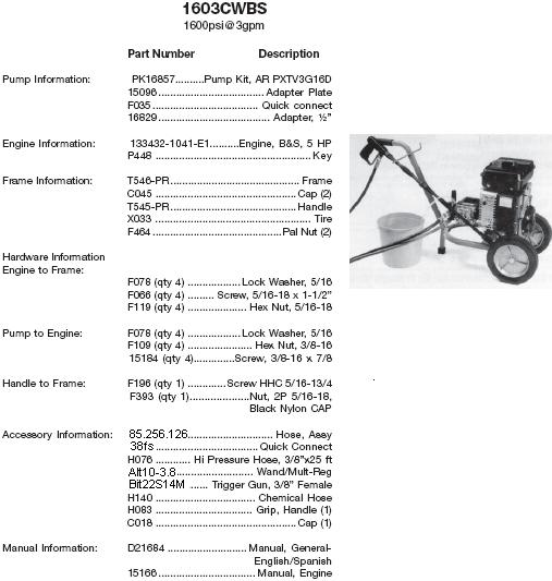 excell devilbiss pressure washer manual