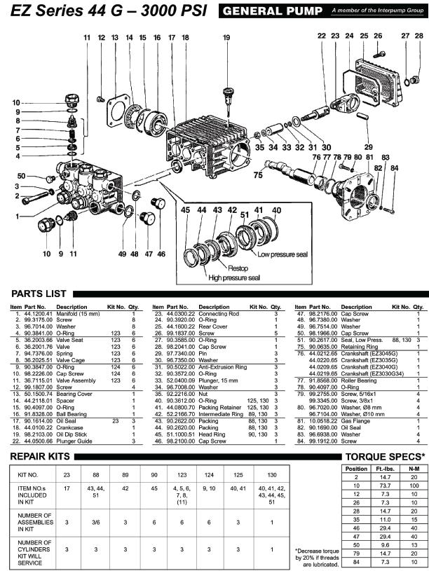 Excell 2835WB pump parts
