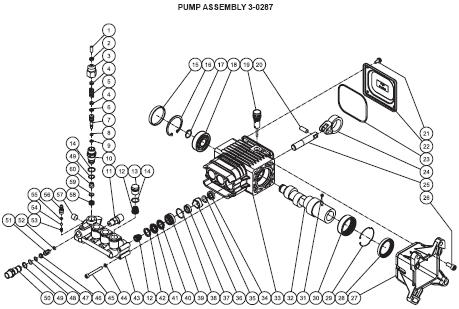 WP-3400-4MHB, 4MRB Pressure washer breakdown, parts & manual