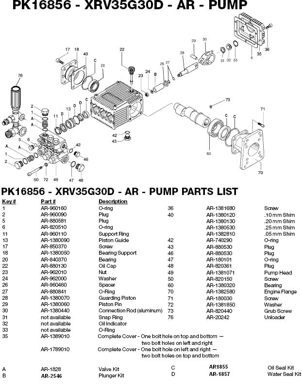 Excell 3035WB pump parts