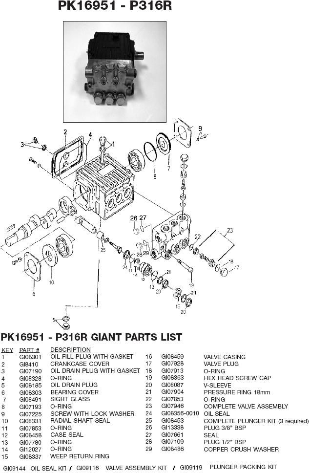 Devilbiss Excell Pressure Washer 3504cwnbd Giant Parts