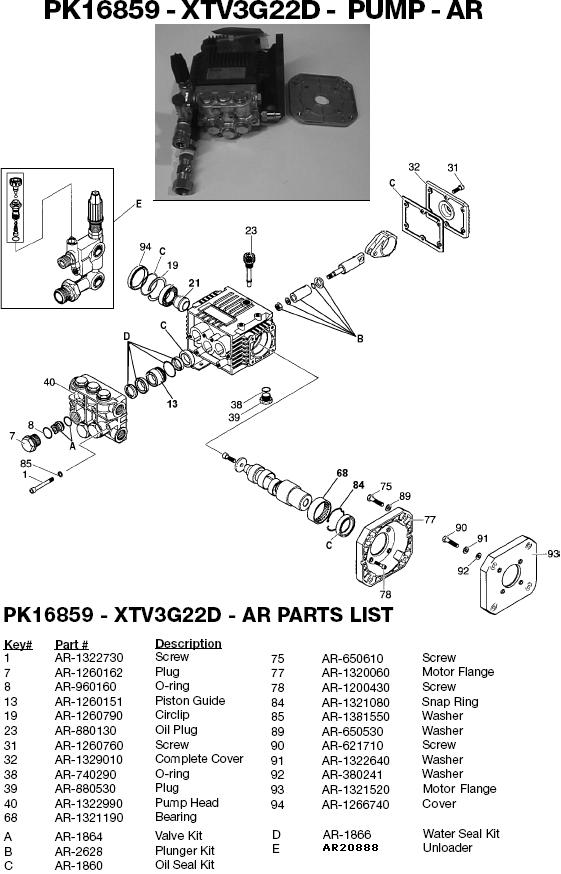 Excell 37802 pump parts