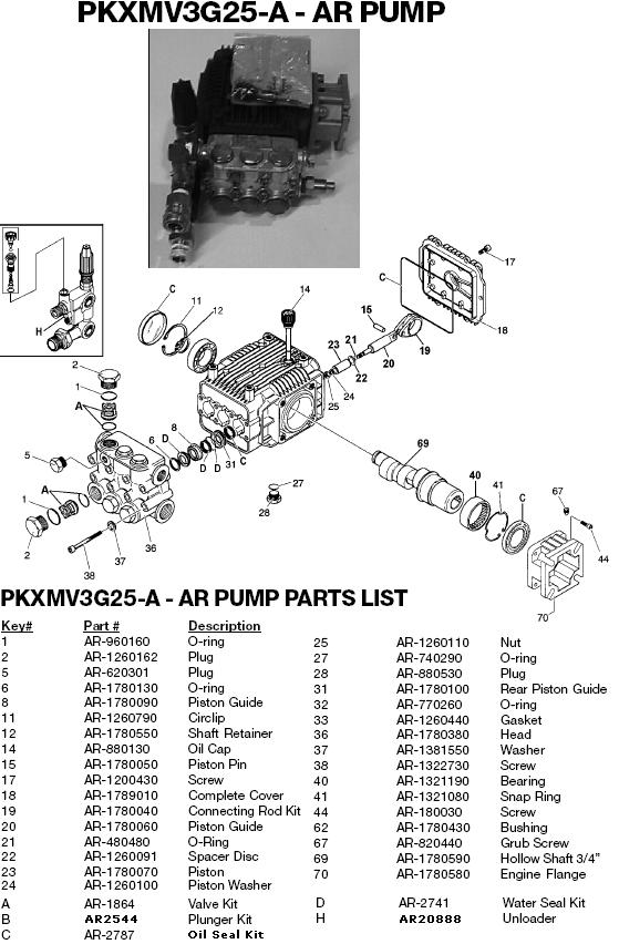 Excell 37803 pump parts