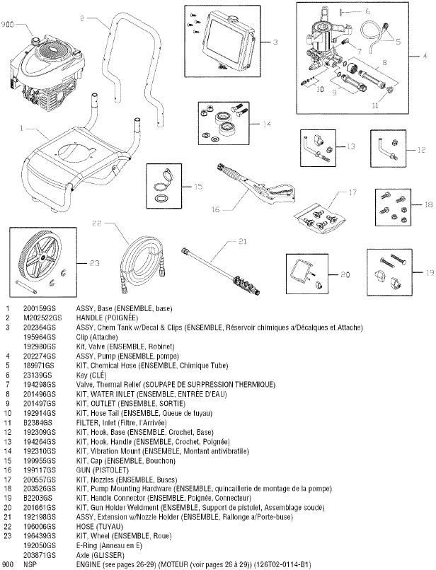 Sears Craftsman 580676631 pressure washer replacement parts