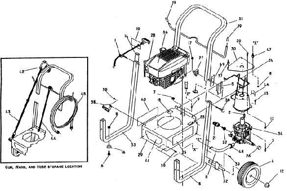 sears/craftsman pressure washer model 580741380 breakdown