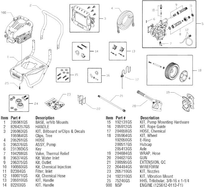 sears craftsman 580752270 pressure washer replacement parts