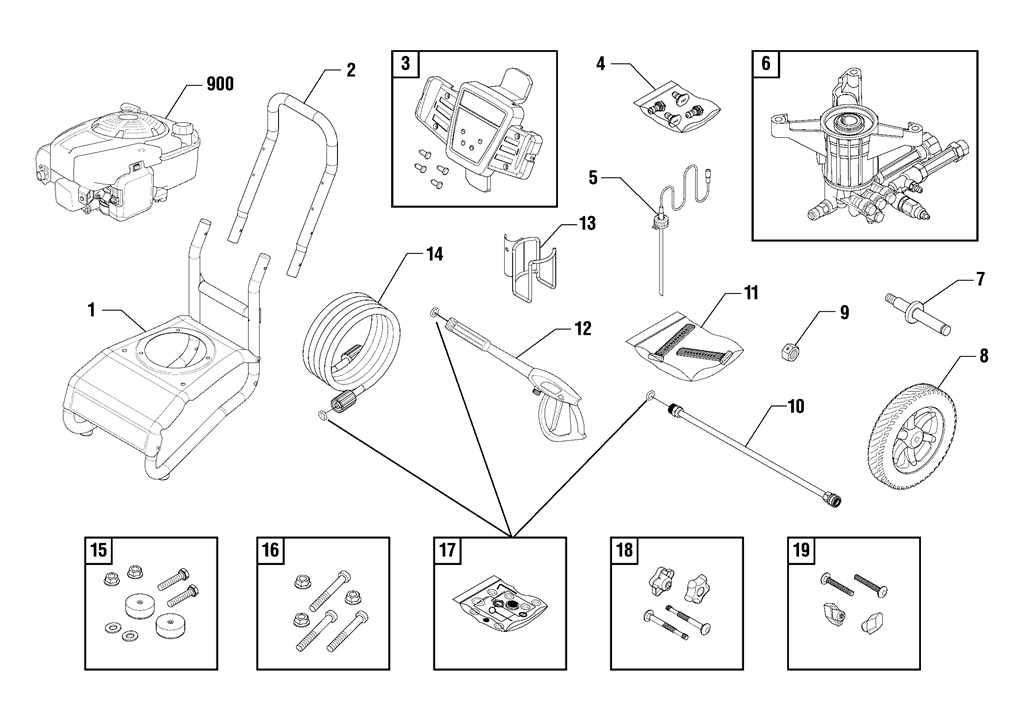 SEARS CRAFTSMAN 580752921 PRESSURE WASHER PARTS PAGE