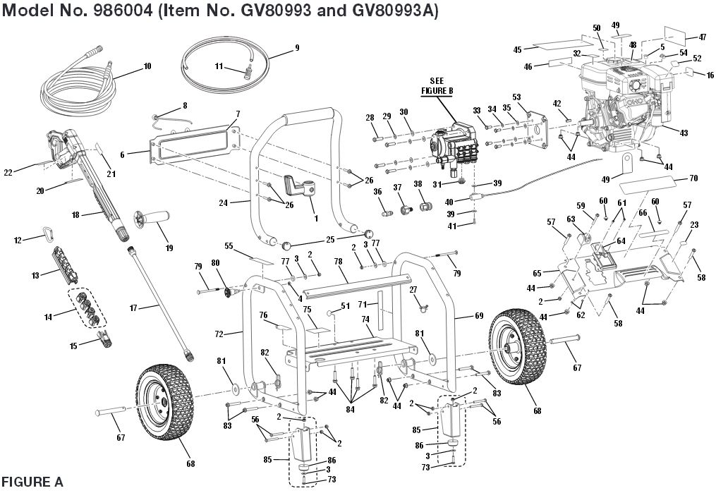 Gravely Model 986004 Breakdown