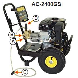 AC-2400GS Parts, pump, repair kit, breakdown & owners manual.