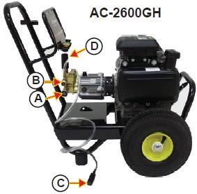 john deere ac 2600gh cold water pressure washer parts rh ppe pressure washer parts com John Deere High Pressure Washers Ryobi Pressure Washer