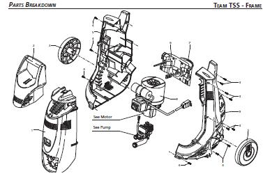 TEAM Electric Pressure Washer Parts, Breakdown & Manual