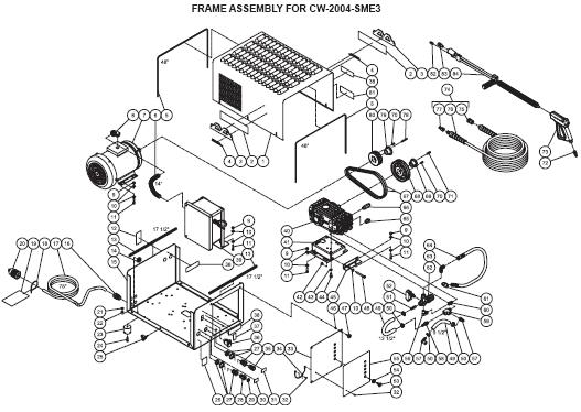 CW-2004-SME1 Pressure washer parts, pump, repair kits, breakdowns & owners manual.