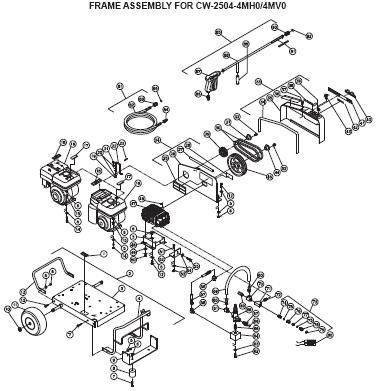CW-2504-4MH0 Pressure Washer Parts, Pumps, Breakdowns & Manuals