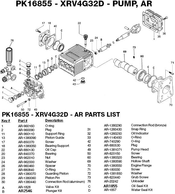 Excell EXWGC3240 pump Parts