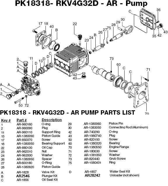 Excell EXWGC3240-1 pump parts