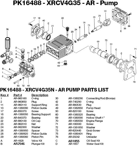 Excell EXWGC3540 pump parts