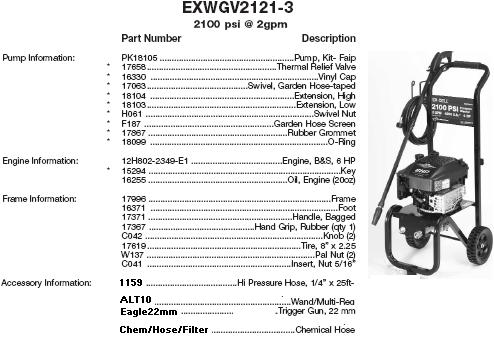vr2500 pressure washer engine manual