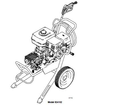 GRACO 2030 (824101) Cold Water Pressure Washer Breakdown, Parts, Pump, Repair Kits & Owners Manual.
