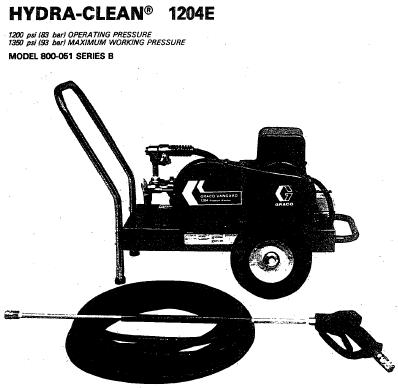 HYDRA CLEAN Cold Water Pressure Washer Breakdown, Parts, Pump, Repair Kits & Owners Manual.