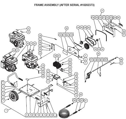 JCW-2504-0MHB pressure washer parts, pumps, repair kits, breakdowns & owners manual.