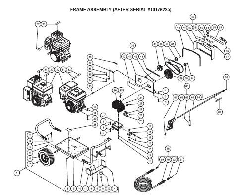 JCW-3504-0MHB Pressure Washer replacement Parts, Pumps, repair kits, breakdown & Owners Manual.