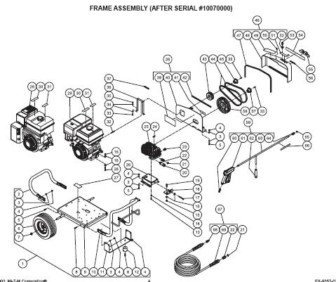 JCW-4003-0MHB Pressure Washer replacement Parts, Pumps, repair kits, breakdown & Owners Manual.
