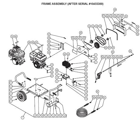 JCW-4004-1MHB Pressure Washer replacement Parts, Pumps, repair kits, breakdown & Owners Manual.