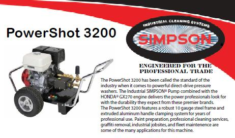 simpson pressure washer parts manual