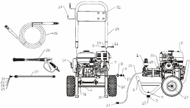 gc190 honda engine pump diagram