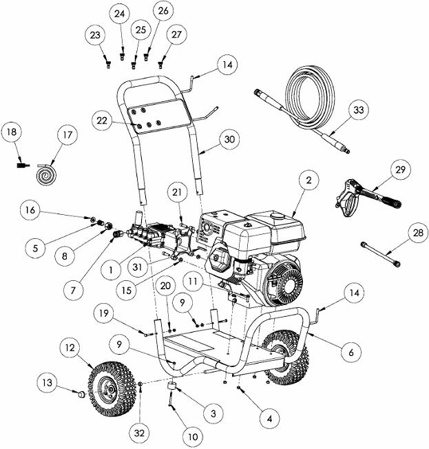 Generace Pressure Washer Model 5995 5996 Replacement Parts Repair