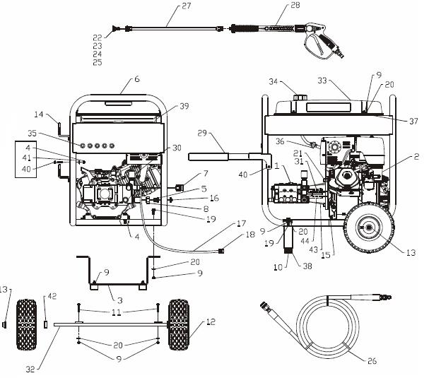 homelite generator engine diagram