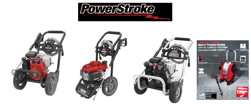 PowerStroke Pressure Washer. WE offer Replacement Parts, Breakdowns & after market power washer replacement parts