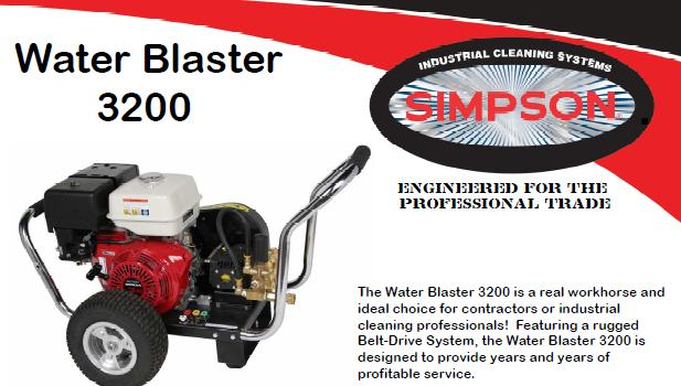 Simpson Water Blaster WB3200 Pressure Washer Parts, breakdown & Owners Manual