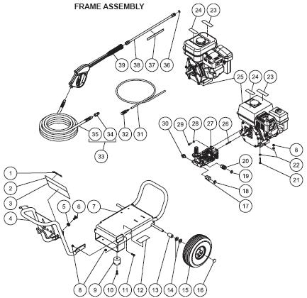 WP-2403-3MHB Parts, pump, repair kit, breakdown & owners manual