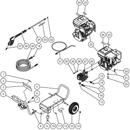 Briggs And Stratton Engine Fuel Pumps likewise Need Wiring Diagrams For Murray Riding Mowers moreover Ohv Engine Carburetor Diagram moreover Kohler K321 Engine Diagram also Briggs Stratton Engine Breakdown. on briggs 16 hp wiring diagram