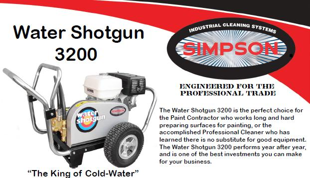 Simpson Water Shotgun WS3240 Pressure Washer Parts, breakdown & Owners Manual