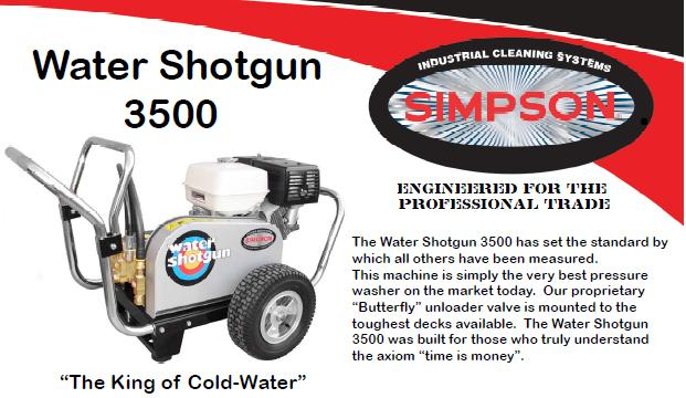 Simpson Water Shotgun WS3540 Pressure Washer Parts, breakdown & Owners Manual