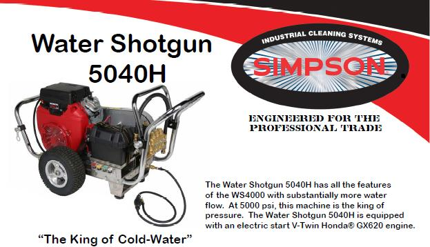 water shotgun wsh simpson pressure washer parts breakdown owners manual