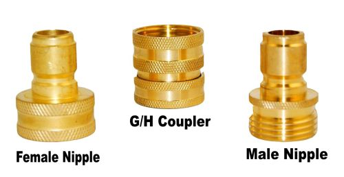 HOSE COUPLER SET BRASS