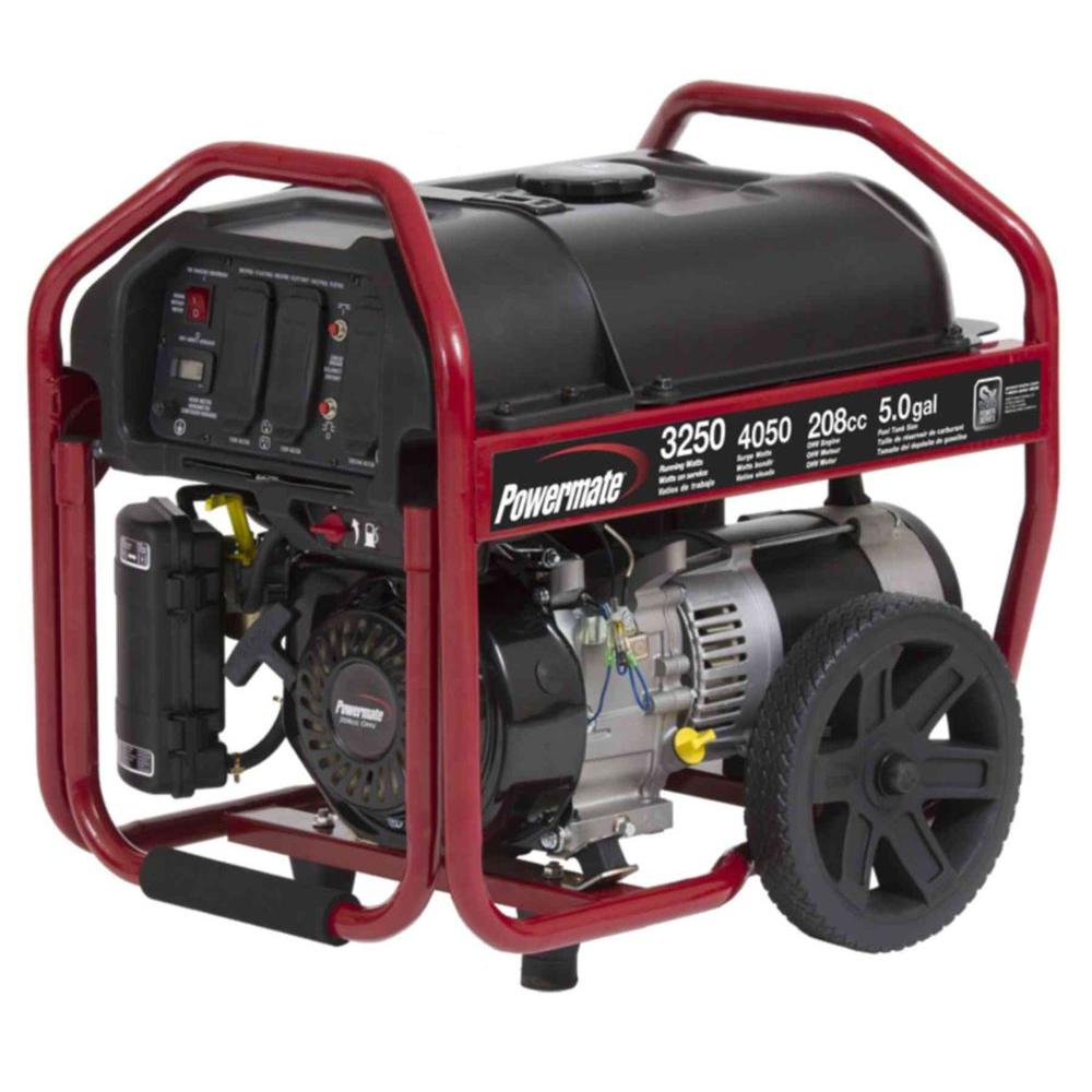 POWERMATE PM0123250 GENERATOR MANUAL AND PARTS PAGE