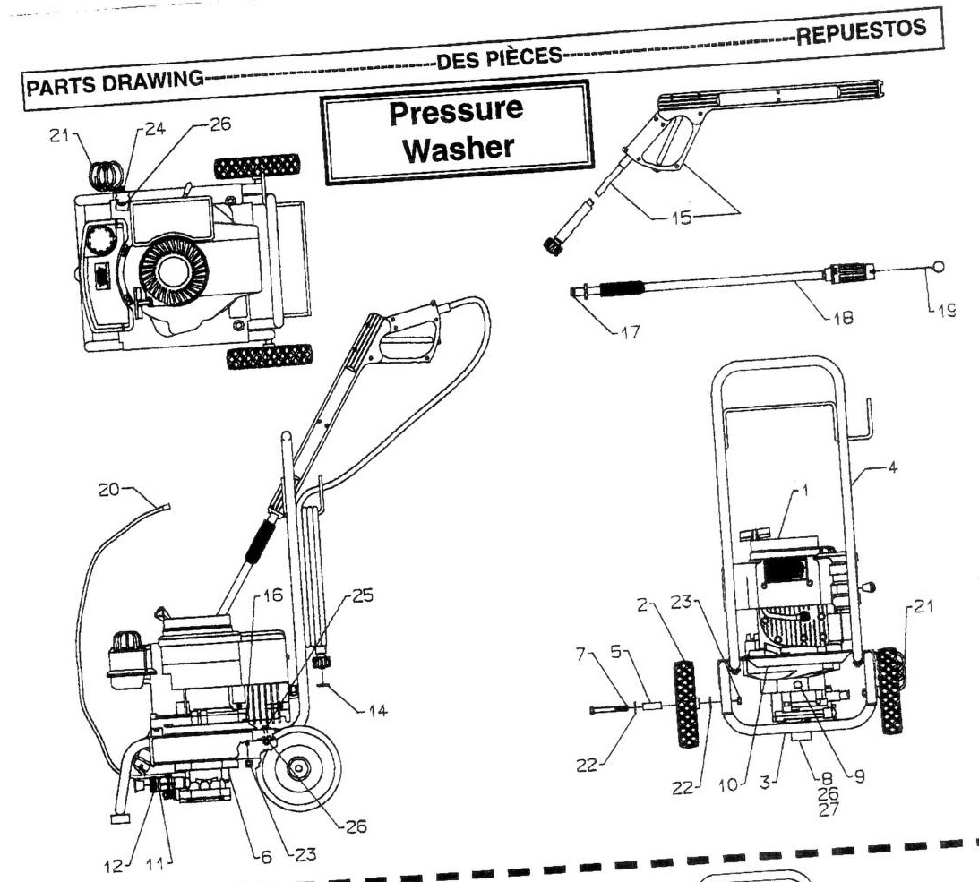 Greenworks Pressure Washer 1500 Replacement Parts Manual Guide